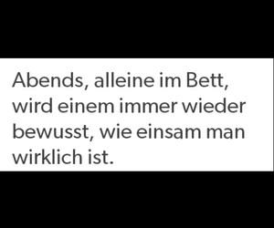 Bett, deutsch, and einsam image