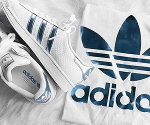 adidas, blau, and blue image