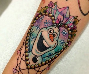 frozen, olaf, and Tattoos image