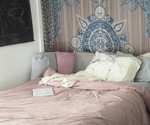 beauty, bed, and pink image