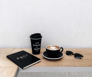 black, coffe, and fashion image