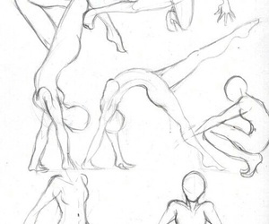 drawing, human body, and sketches image