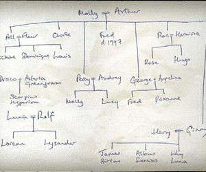 harry potter, family tree, and jk rowling image