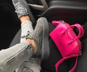 puma, bag, and pink image