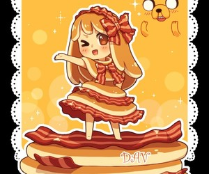 bacon, chibi, and JAKe image