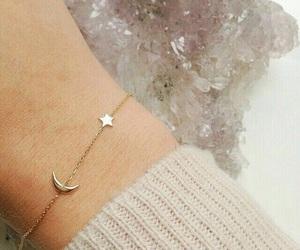 bracelet, moon, and stars image