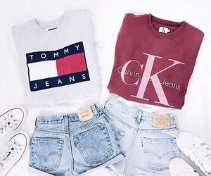 outfit, Calvin Klein, and converse image