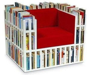 books, guilty pleasures, and chair image