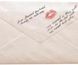 Letter, icon, and kiss image