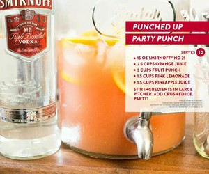 alcohol, punch, and recipes image