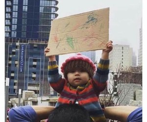 protest, baby, and child image