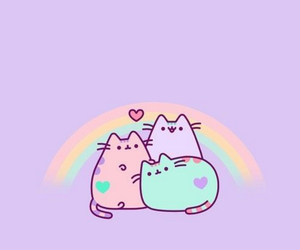 cat, kawaii, and pastel image
