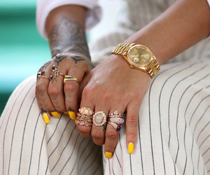 diamonds, yellow, and fenty image
