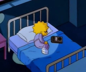 sad, simpsons, and lisa image