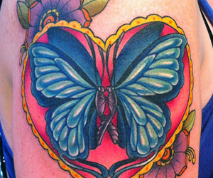 body art, butterfly, and couple image