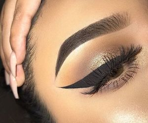 eyebrow, lashes, and woman image