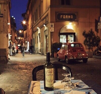 dinner, italian, and street image