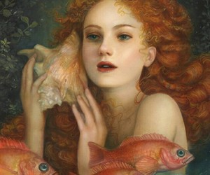 art, fantasy, and mermaids image