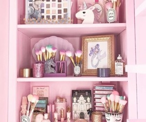 pink, unicorn, and makeup image