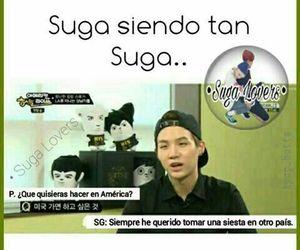 bts, suga, and memes en español image