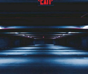 exit, red, and aesthetic image