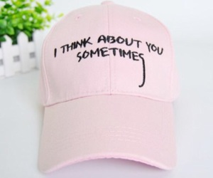 hat, pink, and ithinkaboutyousometimes image