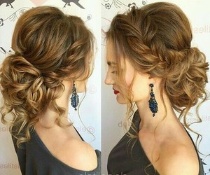 beautiful, hairstyle, and Prom image