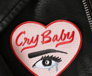 aesthetic, cry baby, and black image