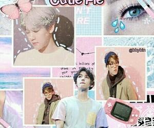 kpop, baekhyun, and pastel template image