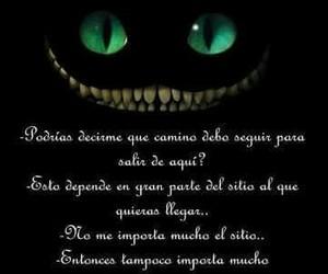 alicia, gato sonriente, and frase image