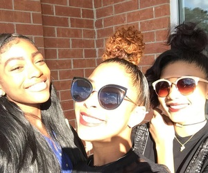 best friends, pretty girls, and melanin image