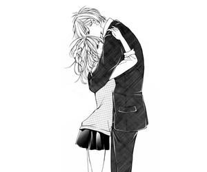 cute couple, manga girl, and romance image