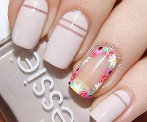 nails, girl, and black image