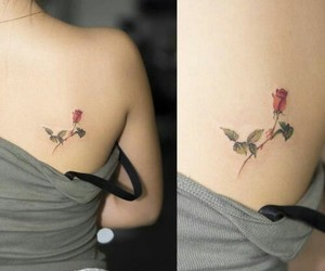 tattoo, rose, and pretty image