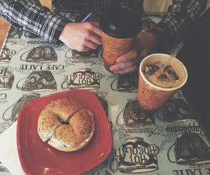 bagels, coffee, and husband image