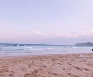 beach, sky, and blue image