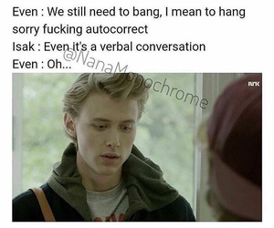 funny, skam, and even bech næsheim image