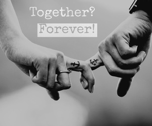 anchor, together forever, and black image