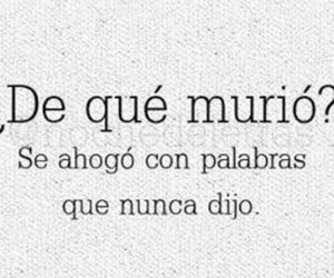 frases, palabras, and morir image