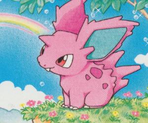 pokemon, rainbow, and nidoran image