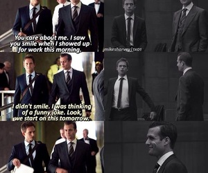 suits, marvey, and michael and harvey image