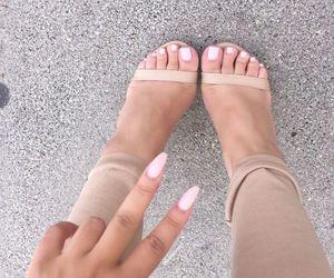 nails, fashion, and heels image