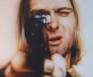 kurt cobain, nirvana, and gun image