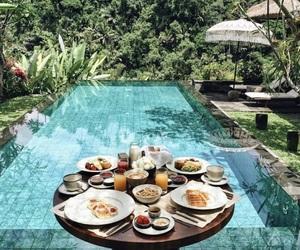 food and pool image