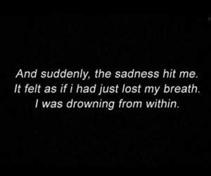 anxiety, breathe, and drowning image