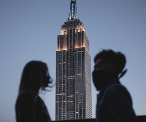 america, couple, and empire state building image