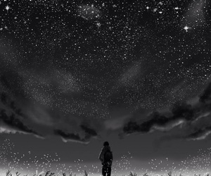 alone, sky, and stars image