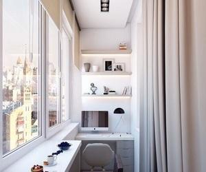 apartment, interior, and balcony image
