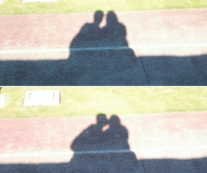 couple, shadows, and green image