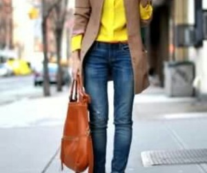 fashion, clothes, and yellow image